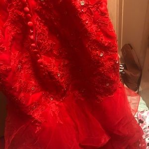 Red Mermaid Prom Dress💃🏻